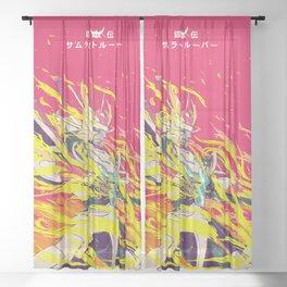 Yoroiden Samurai Troopers / Ronin Warriors Tribute Sheer Curtain