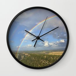 Rainbow And Fantastic View In Andalusia Wall Clock