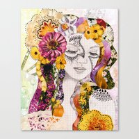 flora Canvas Prints featuring Flora by Jenndalyn