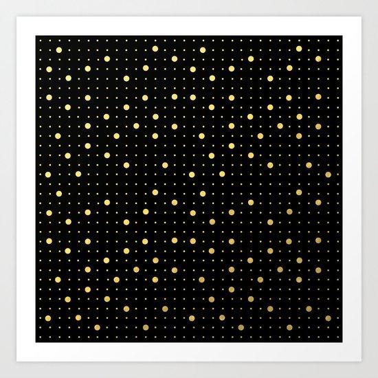 Pin Points Gold Art Print