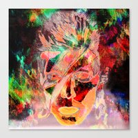 bowie Canvas Prints featuring Bowie by Joel Mata