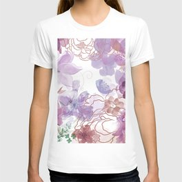 Rosie Outlook - muted purples T-shirt