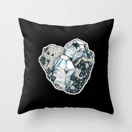 Hematite Crystal Cluster Throw Pillow