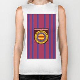 Catalonia Football Badge Biker Tank