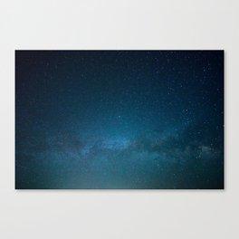 Navy Blue Star Galaxy Canvas Print