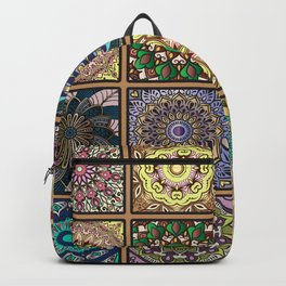Colorful floral seamless pattern Backpack