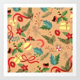 Christmas Pattern 7 Art Print