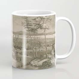 Vintage Pictorial Map of Montreal Canada (1856) Coffee Mug