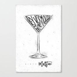 Dirty martini cocktail Canvas Print