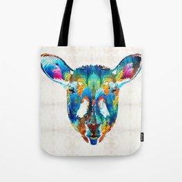 Colorful Sheep Art - Shear Color - By Sharon Cummings Tote Bag