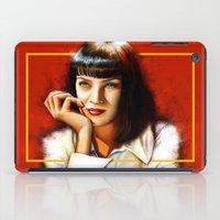 mia wallace iPad Cases featuring Mia Thurman by Shana-Lee