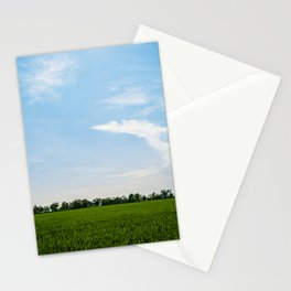 Blue over green Stationery Cards