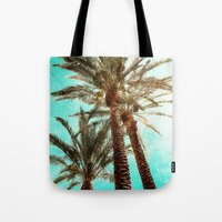 palms Tote Bags featuring Palms by Elliott's Location Photography