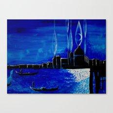 venezia luce della luna Canvas Print
