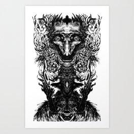 Test your Mind (t-shirt) Art Print