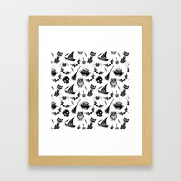Halloween pattern design Framed Art Print