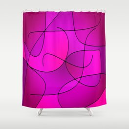 ABSTRACT CURVES #1 (Purples, Violets, Fuchsias & Magentas) Shower Curtain