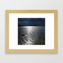Before Rain - Lakescape by the Night Framed Art Print
