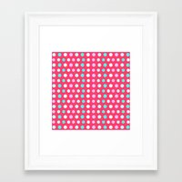 polka dots Framed Art Prints featuring Polka Dots by Ornaart