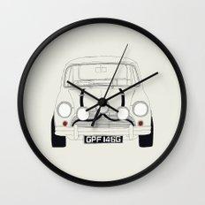 The Italian Job White Mini Cooper Wall Clock