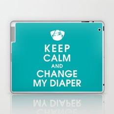 Keep Calm and Change My Diaper Laptop & iPad Skin