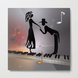 when the music ... Metal Print