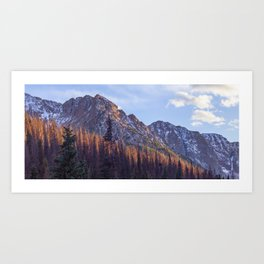 Dusk in Chicago Basin Art Print
