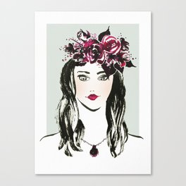 Flowers in the hair Canvas Print