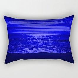 Bright Reflections Night Seascape Rectangular Pillow