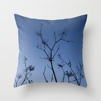 night sky Throw Pillows featuring Night Sky by Shy Photog