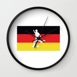 Football icon Germany Flag Wall Clock