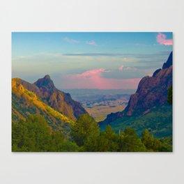 Chisos Mountain Park Big Bend Texas Canvas Print
