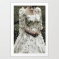 jane austen Art Prints featuring Jane Austen by Joana Kruse