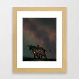 Under Lamplight Framed Art Print