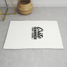 Cute But Psycho Funny Auto Derision SAying Rug