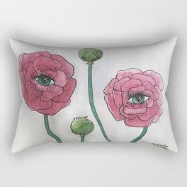Seeing Poppies Rectangular Pillow