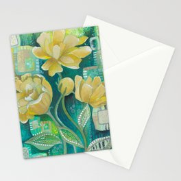 Yellow Blooms Stationery Cards