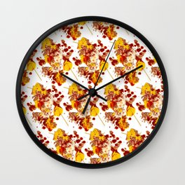 branflakestacosauceparmesanredpeppermustardspaghetti Wall Clock