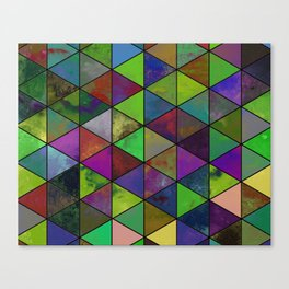 Textured Triangulation - Abstract, geometric triangles Canvas Print