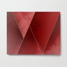 Crimson Tones Metal Print