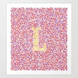 """""""L"""" Eye Test Full Art Print"""