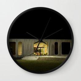Building at Night Wall Clock