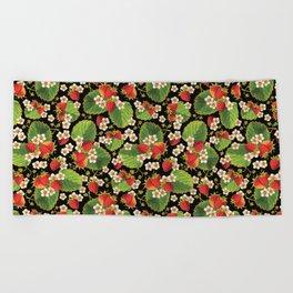 Strawberries Botanical Beach Towel