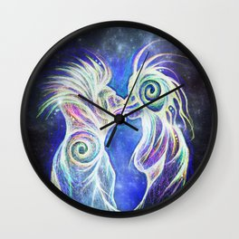 Alien Kiss Wall Clock