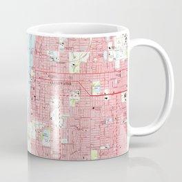 Vintage Map of Clearwater Florida (1974) Coffee Mug