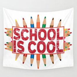 School is cool Wall Tapestry