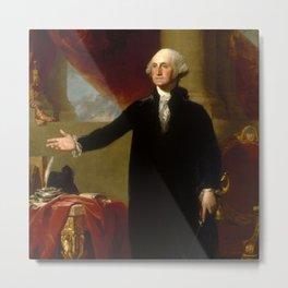 "Gilbert Stuart ""George Washington (Lansdowne portrait)"" Metal Print"