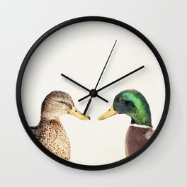 Two Ducks Wall Clock