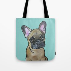Armand the Frenchie Pup Tote Bag