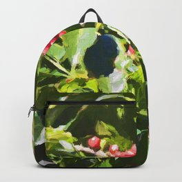 Coffee beans on vine in Panama Backpack